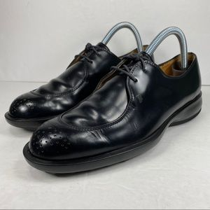 Tod's Black Leather Lace Up Oxford Driving Shoes